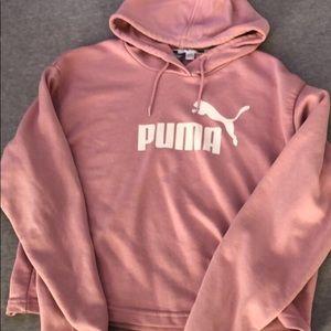 light pink puma pullover